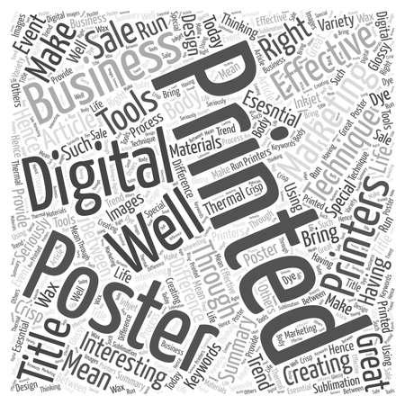 Make Your Business Interesting Through Posters word cloud concept Ilustração