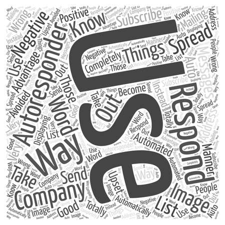when: Things To Know When Using Autoresponders word cloud concept