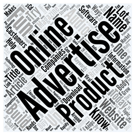 How To Advertise And Build Brand Name For A Product Online word cloud concept