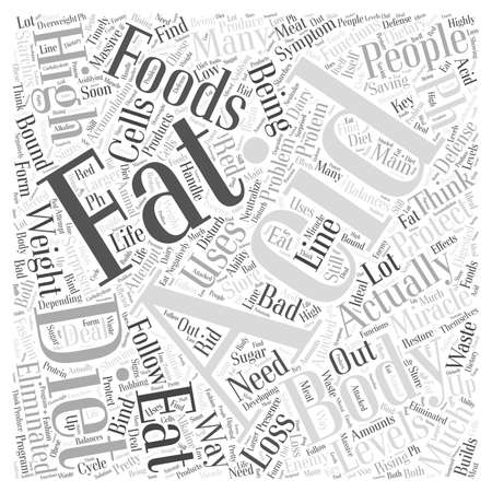 symptom: pH miracle diet and weight loss word cloud concept Illustration