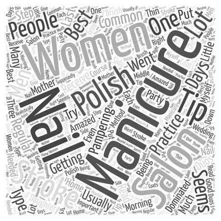 Manicure Tips word cloud concept Иллюстрация