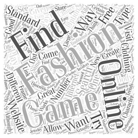 Online Fashion Games What They are How to Find Them word cloud concept