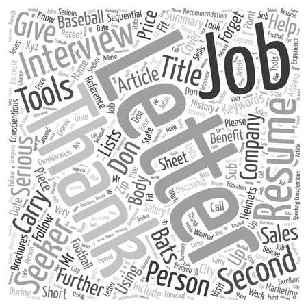 Don t Forget to Say Thank You for a Second Interview word cloud concept Illustration