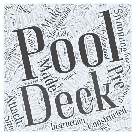 #67215888   Pool Decks Das Perfekte Zubehör Für Oberirdische Pools Wort  Cloud Konzept