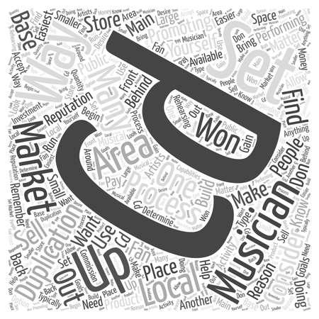 De reden voor duplicatie marketing uw CD woord cloud concept Stock Illustratie