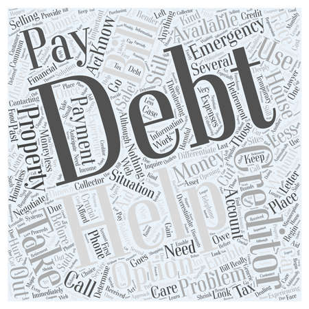 Taking Care of Your Debt Situation word cloud concept