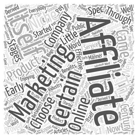 hoe je een niche voor affiliate marketing word cloud concept kiezen
