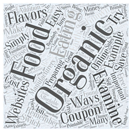 try: Easy Ways to Make the Switch to Organic Foods word cloud concept