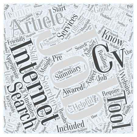 Job Search at the Internet Age word cloud concept