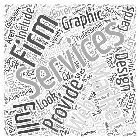 full size: professional graphic design word cloud concept Illustration