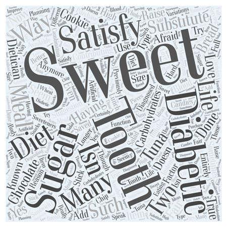 Voldoen aan een diabetische Sweet Tooth woord wolk concept Stockfoto - 67216115