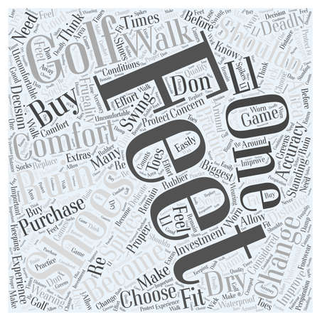 How to Choose Golf Shoes word cloud concept Иллюстрация