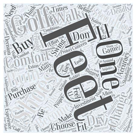 How to Choose Golf Shoes word cloud concept Ilustração