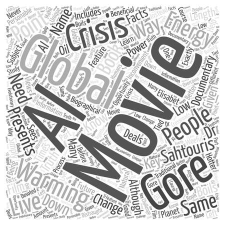 Movies on Global Warming word cloud concept Stock Illustratie