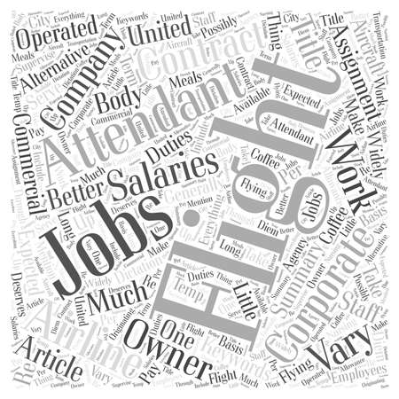 attendant: Corporate Flight Attendant Jobs An Alternative To Commercial Airlines word cloud concept