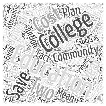 fewer: Financial Motivation for Two Year Education word cloud concept