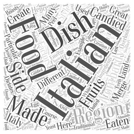 Lombardy The Other Side of Italian Food word cloud concept Ilustracja