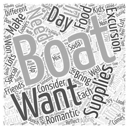 boating: Boating Supplies Illustration