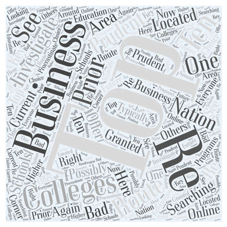 prudent: business colleges 03 Illustration