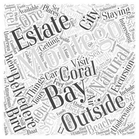 bay: Things to do just outside Montego Bay word cloud concept