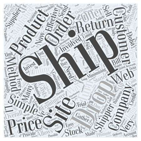 wholesale: Drop Shipping Made Easy word cloud concept