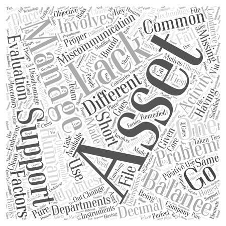 Most Common Problems with Asset Management word cloud concept