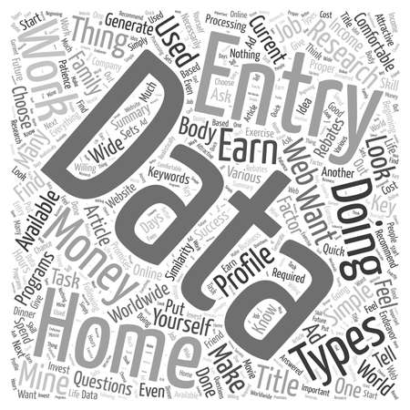 Earn Money Doing Simple Data Entry World Wide word cloud concept