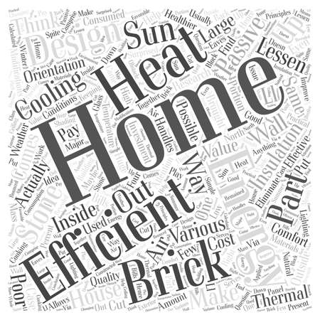 brick stone home energy efficient Illustration
