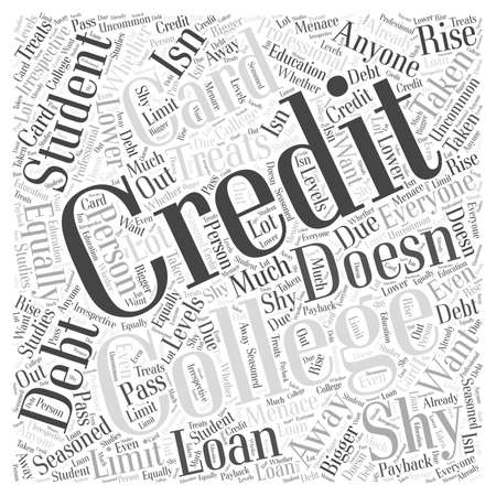 College Student Credit Card Debt word cloud concept