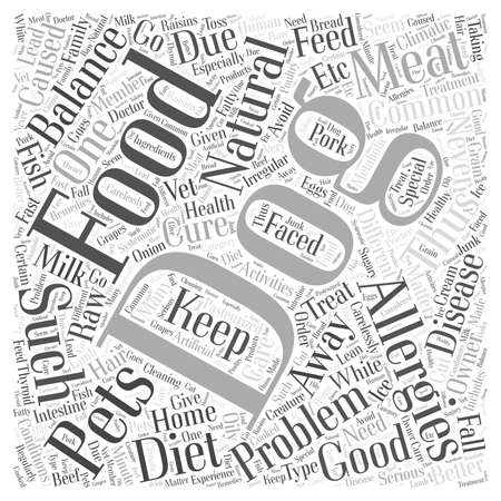 should: Natural balance dog food and allergies word cloud concept Illustration