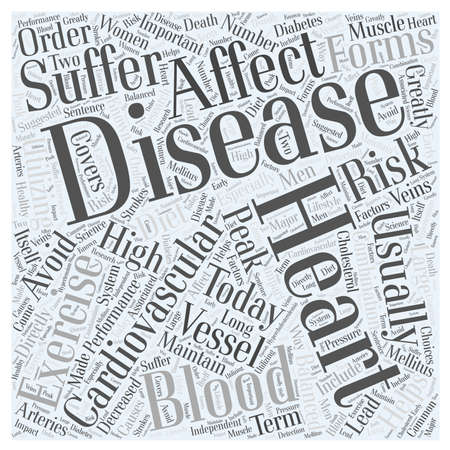 Heart Disease Today word cloud concept Ilustrace