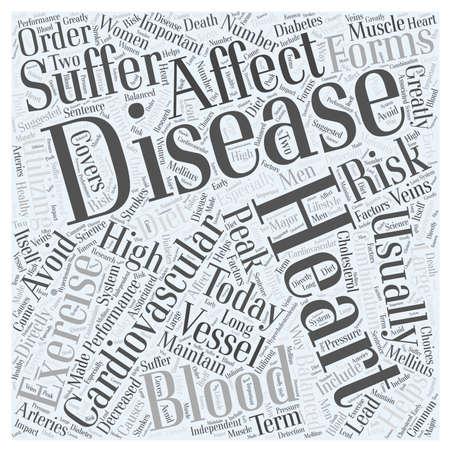 Heart Disease Today word cloud concept Illusztráció