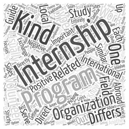 Types of International Internships word cloud concept Stock Vector - 67220669