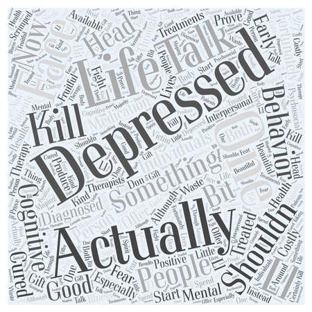 depression word cloud concept