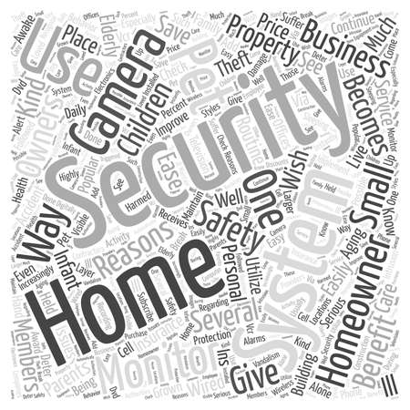 Home Security Camera System word cloud concept Ilustrace