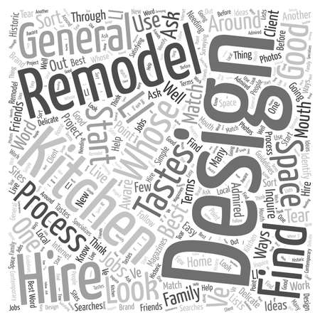 who: Who to Hire for Your Kitchen Remodel word cloud concept