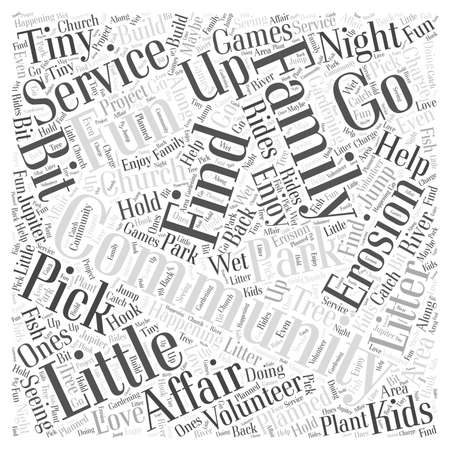 Community Service is a Family Affair word cloud concept