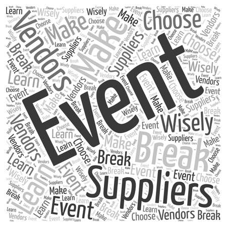 event: Event Suppliers word cloud concept Illustration