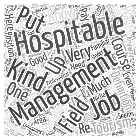 hospitality: What Are Hospitality Management Jobs word cloud concept