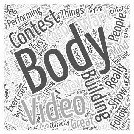 Body Building Videos Stock Illustratie