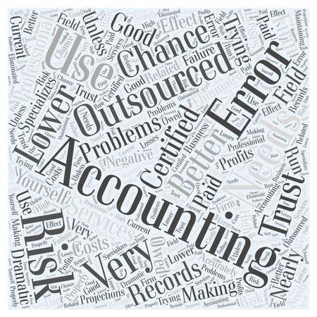 Waarom gebruiken Outsourced Accounting woord wolk concept