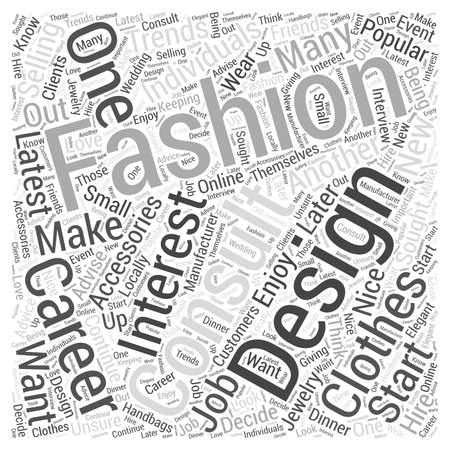 Fashion Careers You May Be Interested In word cloud concept Ilustração