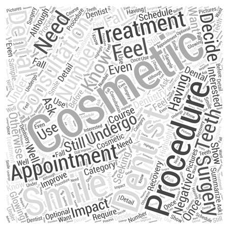 Cosmetic Dental Surgery What You Need to Know word cloud concept