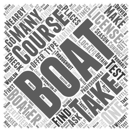 boater: Boating Course Illustration