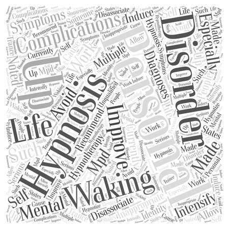 Waking up to Improve Personal Life word cloud concept Vectores