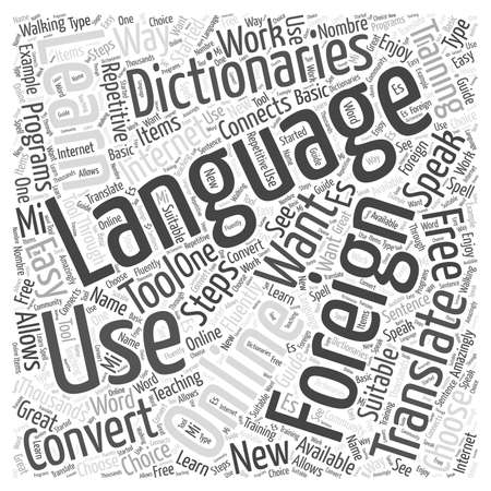 Speaking Easy in Foreign Language Training word cloud concept Ilustrace