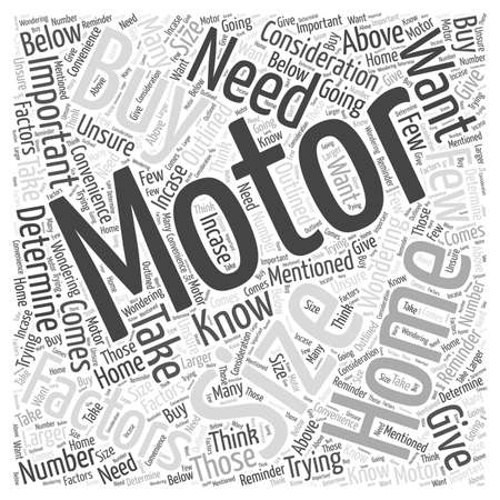 size: What Size Motor Home Should You Buy word cloud concept