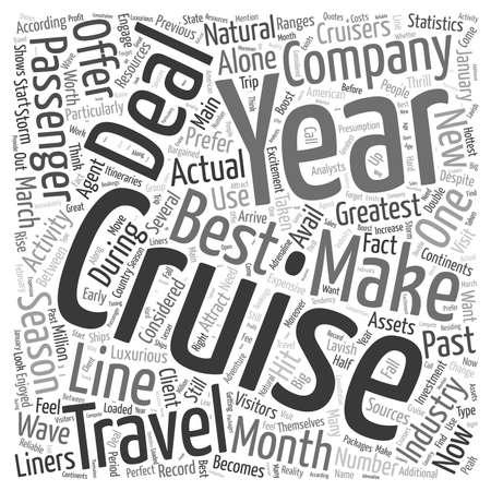 deals: cruise deals word cloud concept Illustration