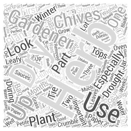 Herb Gardening word cloud concept
