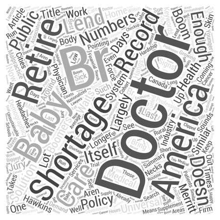 br: Not Enough Doctors word cloud concept